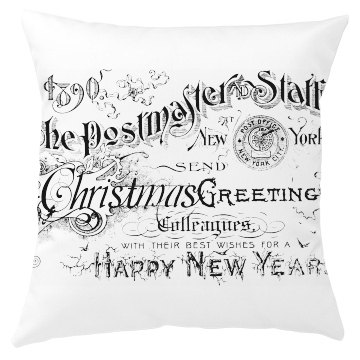 Christmas Greetings Pillow Cover