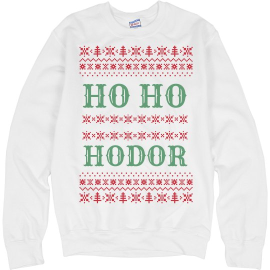 Christmas Holiday Ho Ho Hodor