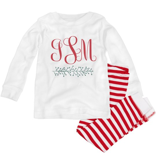 Christmas Monogram Custom Pajamas