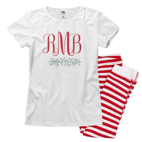 Christmas Monogram Matching Pajamas