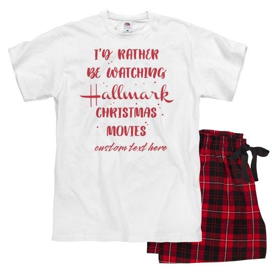 Christmas Movie Channel Custom Pajamas