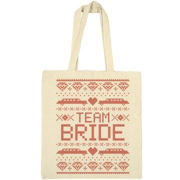 Christmas Wedding Teambride Tote