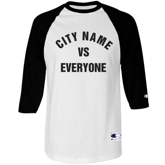 City Vs Everyone Raglan