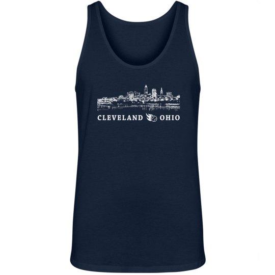 Cleveland Ohio Skyline Baseball Shirt