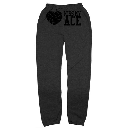 Clever Kiss My Volleyball Ace Sweatpants