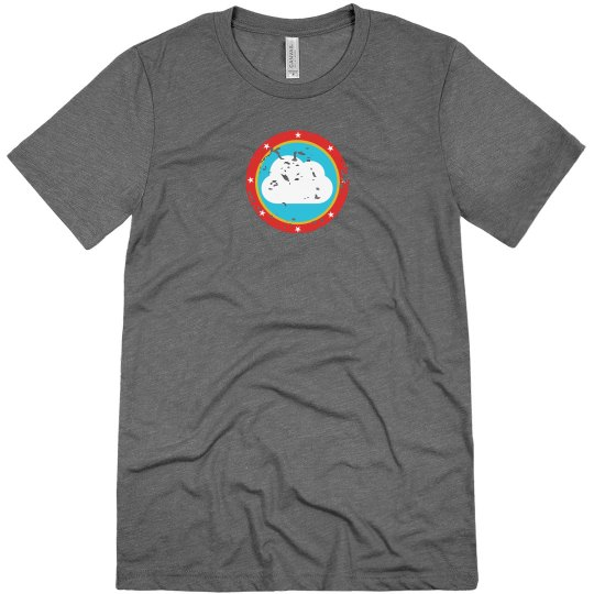 Cloud Bullseye Tee Grey