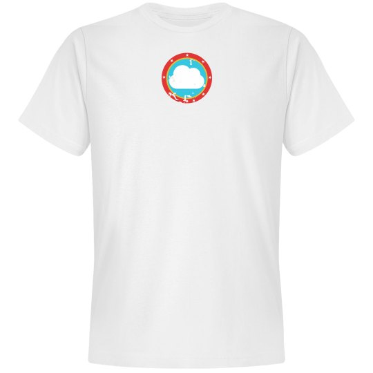 Cloud Bullseye Tee White
