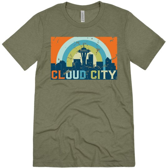 Cloud City Tee Green