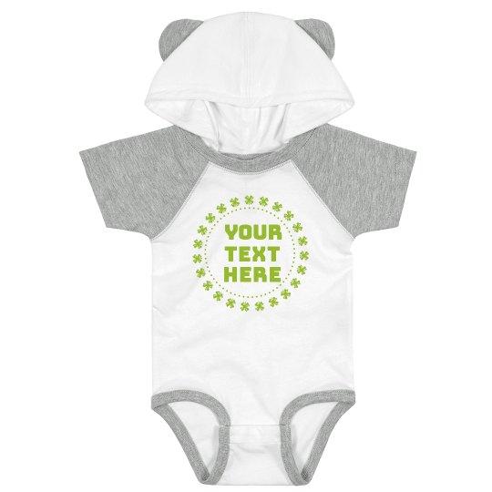Clover Frame Custom Text Bodysuit