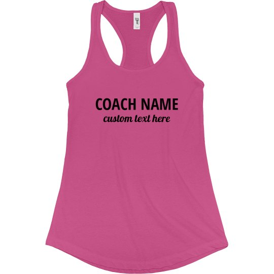 Coach Name Custom Workout Tank