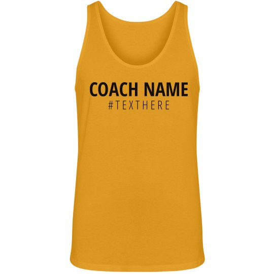 Coach Name Hashtag Tank