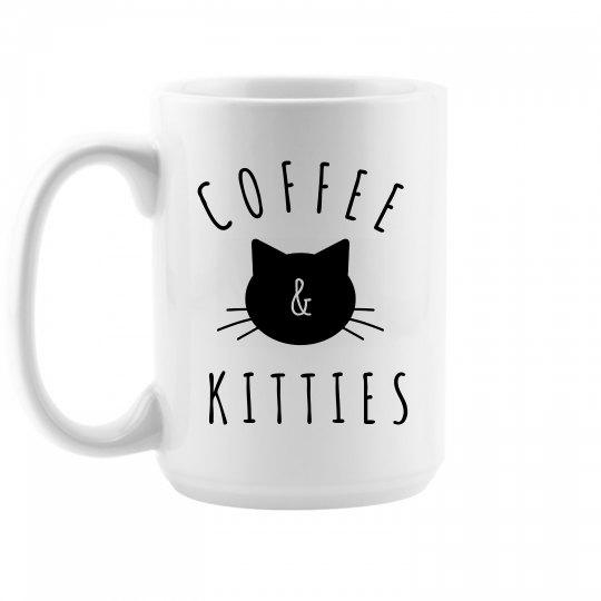 Coffee And Kitties Cute Cat Gift