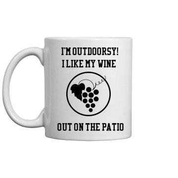 Coffee Cup Outdoorsy wine