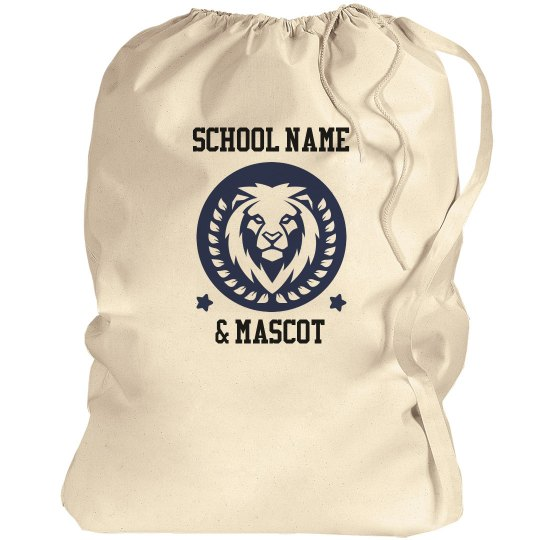 College School Name & Mascot Laundry Bags