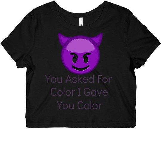 Color Crop Top