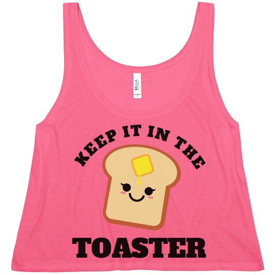 Color Guard Keep It In The Toaster Crop Top for Summer
