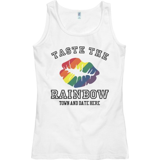 Color Run Taste The Rainbow White Tank Top