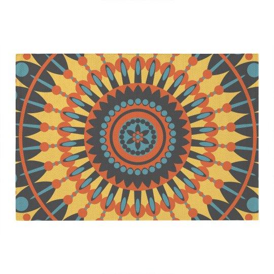 Colorful Boho Mandala Pattern Rug