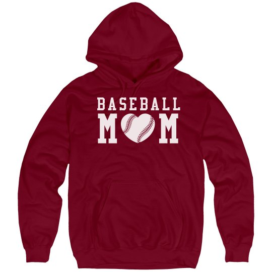 Comfy Baseball Mom Hoodies With Custom Numbers