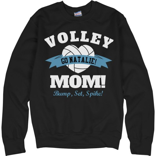 Comfy Volleyball Mom Sweatshirt With Custom Name