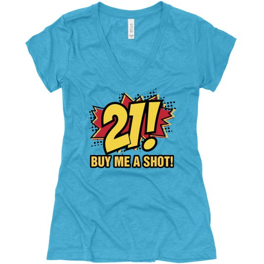 Comic 21st Birthday Shirt