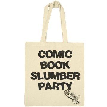 Comic book slumber party bag