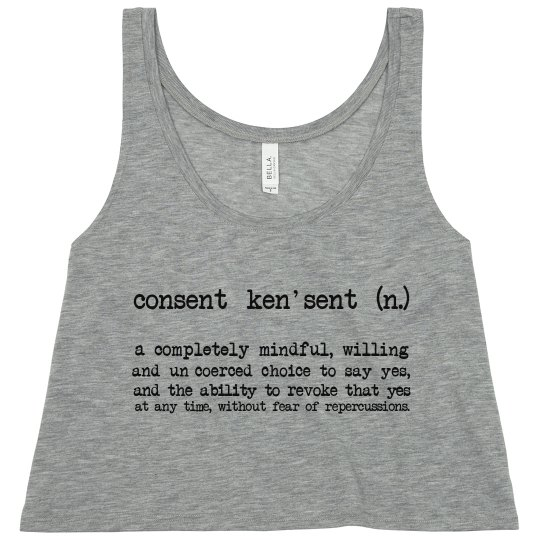 Consent Defined Crop Tank