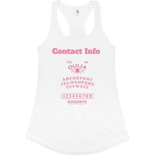Contact Info Pink Tank