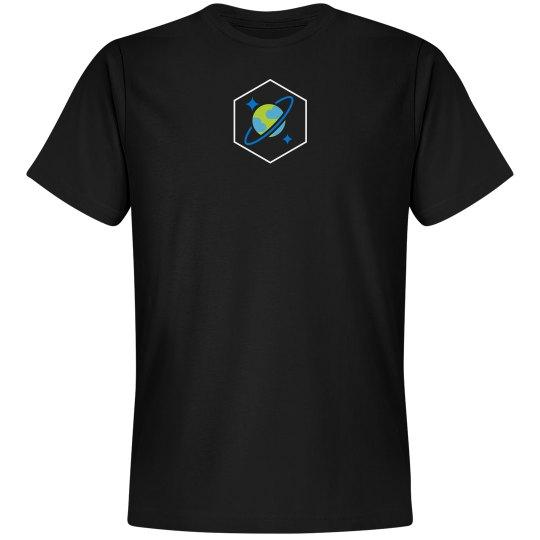 Cosmos DB Logo Hex Tee Black