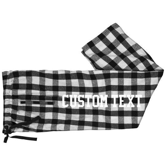Cozy Custom Flannel Pajama Pants