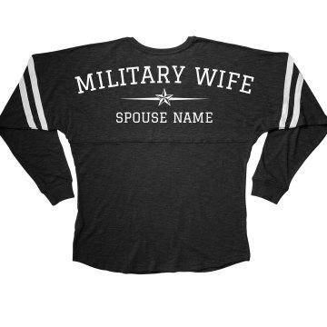 Cozy Custom Military Wife