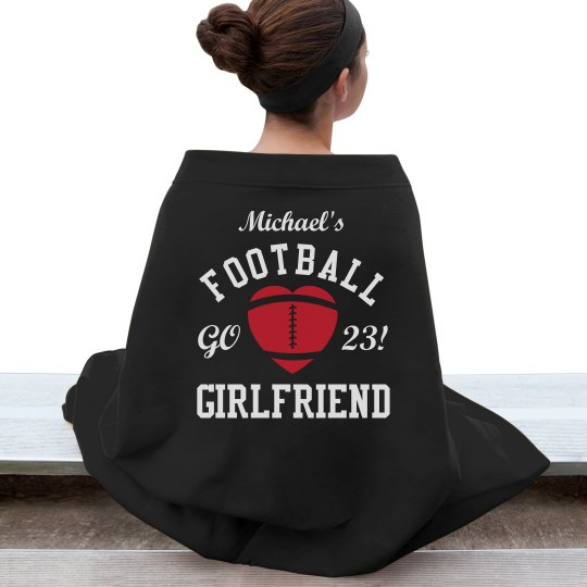 Cozy Football Girlfriend Blanket With Custom Name