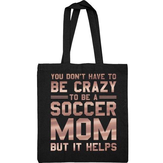 Crazy Metallic Soccer Mom Bag