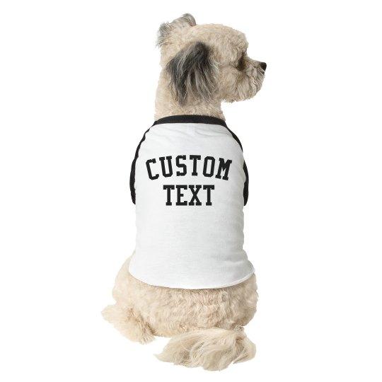 Create a Custom Dog Raglan Tee