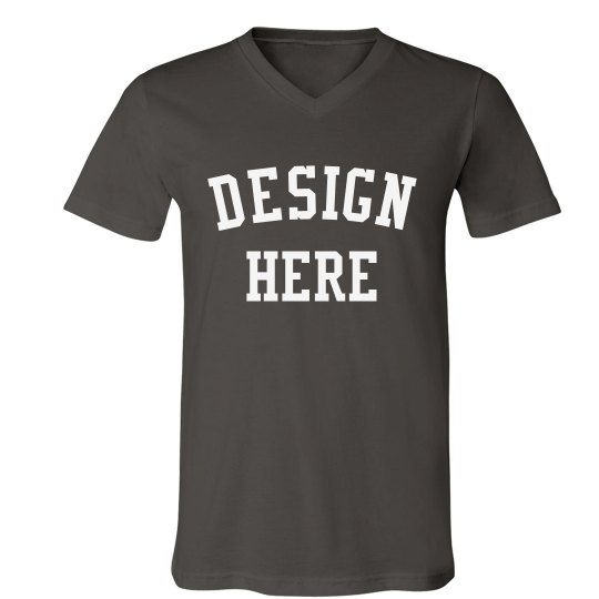 Create a Custom Fine Jersey V-Neck