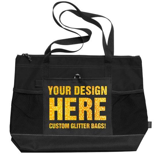 Create A Custom Glittery Sports Bag!