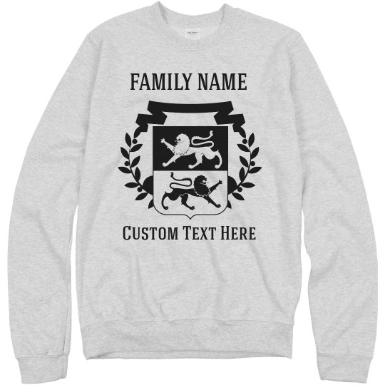 Create a Customizable Sweatshirt with your Family Crest