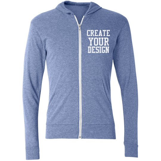 Create a Personalized Zip Hoodie
