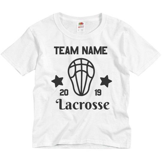 Create Custom Lacrosse Team Youth Tees