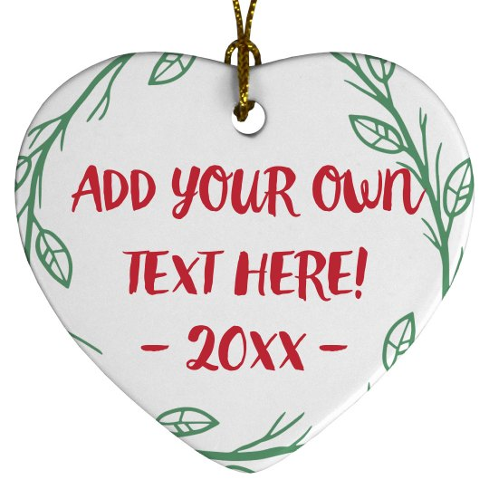 Create Custom Text Christmas Decor