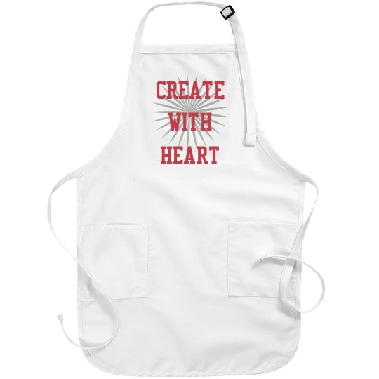 create with heart apron