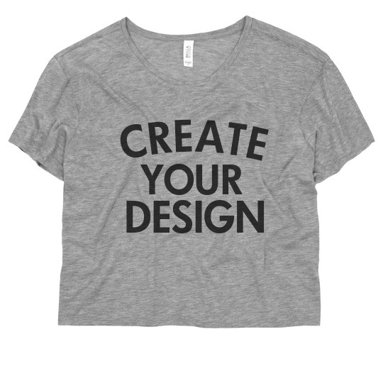 Create your Custom Cozy Crop Tee