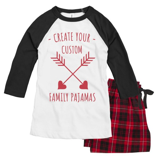 Create Your Custom Valentine's Day Family PJs