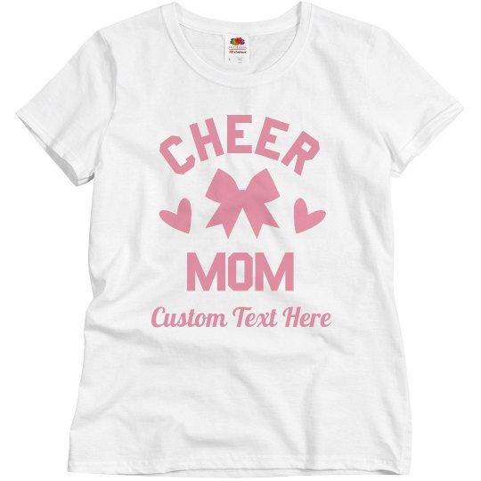 Create Your Own Custom Cheer Mom Tee