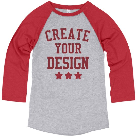 Create Your Own Custom Design on Raglans