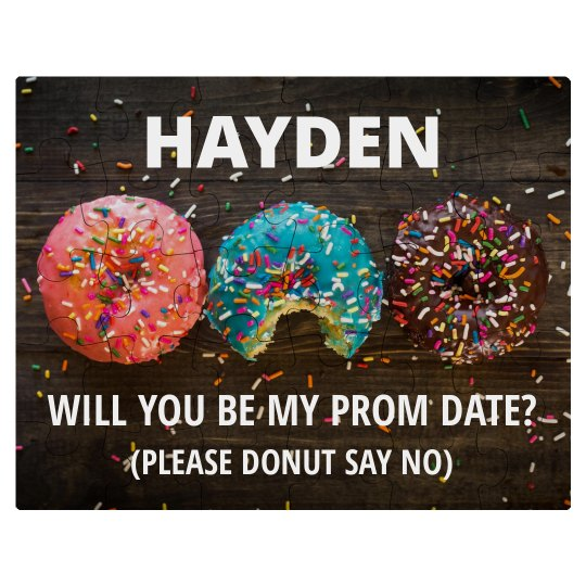Creative Donut Promposal Prom Invite