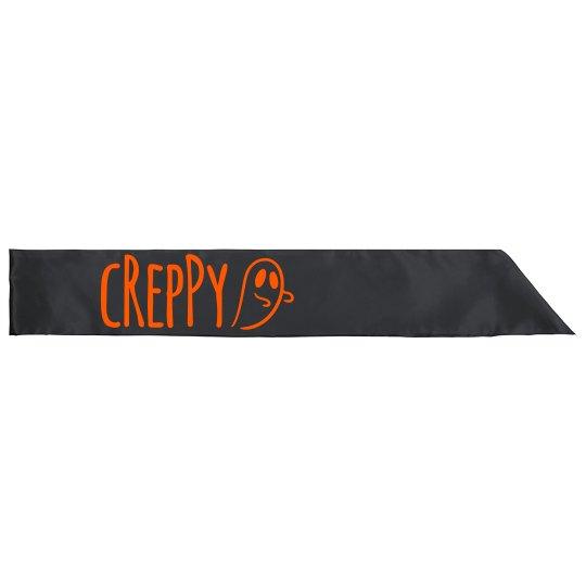 Creppy Halloween Sash