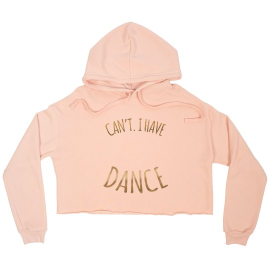 Cropped Sweatshirt - Gold Metallic font