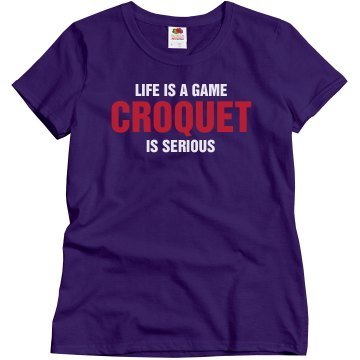 Croquet is serious