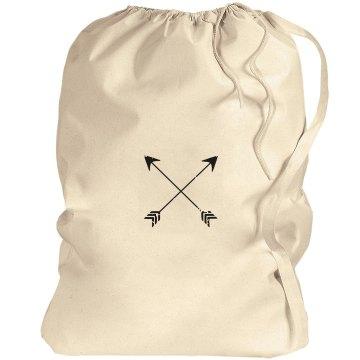 Crossed Arrows Laundry Bag